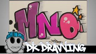 getlinkyoutube.com-How to draw graffiti - Graffiti Letters MNO step by step