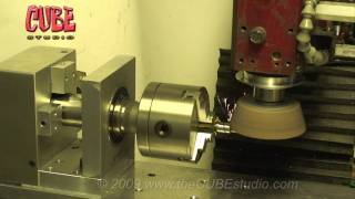 getlinkyoutube.com-X2 'Mini Machining Center' 4th Axis Grinding on hardened shafting.