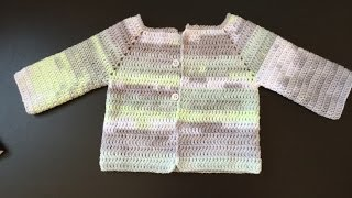 getlinkyoutube.com-Tuto facile gilet, veste enfant au crochet