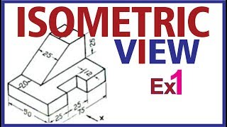 (Hindi)  Isometric Projection Example 1 #Engineering Drawing