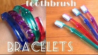 DIY Fashion ♥ Toothbrush Bracelets