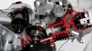 getlinkyoutube.com-Schnittmodell - 50ccm Motor (139QMB) - Demozwecke / Messen / Ausstellung