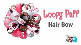 getlinkyoutube.com-How to Make a Loopy Puff Bow - TheRibbonRetreat.com