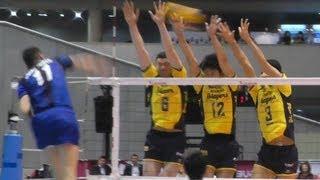 getlinkyoutube.com-Volleyball パナソニック vs 堺  1set Vプレミアリーグバレーボール決勝 2013.4.14