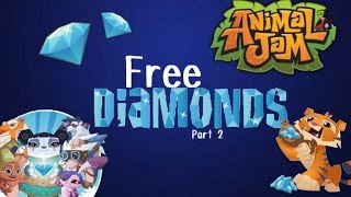 getlinkyoutube.com-Animal Jam: How to Get Free Diamonds!!