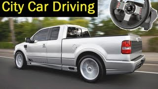 getlinkyoutube.com-City Car Driving simulator - Offroad Cruise with Logitech G27, pickup truck Saleen Supercab. 1080p