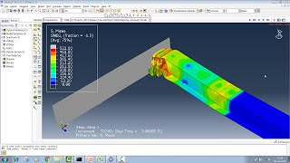 getlinkyoutube.com-Abaqus/CAE - Box Tubular Crush Tutorial (Moving analytical Rigid-wall impact)