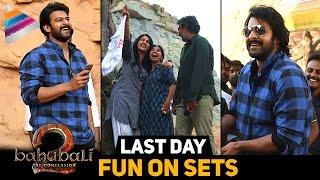 getlinkyoutube.com-Baahubali 2 Team Last Day FUN ON SETS | Prabhas | Rana | Anushka | Rajamouli | Telugu Filmnagar
