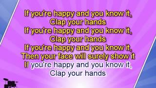 getlinkyoutube.com-Karaoke for kids - If You Are Happy And You Know It - key +3 - with backing melody