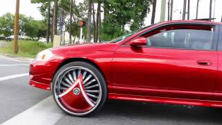 "getlinkyoutube.com-Candy Apple Red Monte Carlo SS on 26"" DUB Skirts"