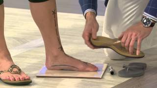 getlinkyoutube.com-Vionic w/ Orthaheel Leather Thong Sandals - Karina with Jayne Brown