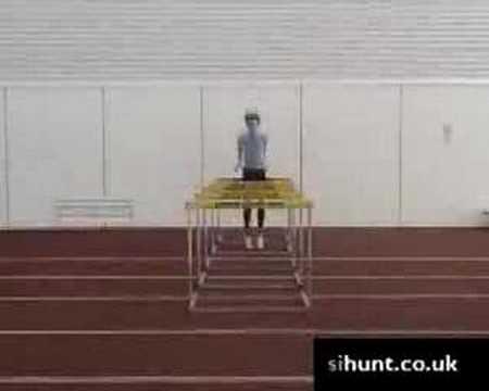 High Jump / Plyometrics Training: Hurdle Rebound Jumps 1