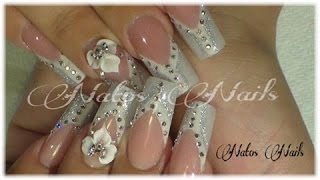 getlinkyoutube.com-Bride Lovely French - Natos Nails - Uñas Acrilicas