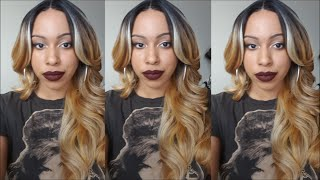 getlinkyoutube.com-Freetress Lace Front Deep Invisible Part Wig- MIZZY | SOH627613 |