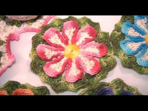 Flor do Campo em crochê (passo a passo) -  Cristina Luriko