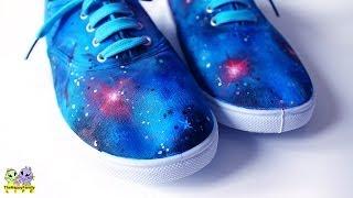getlinkyoutube.com-Галактические КЕДЫ ✦ Декор акриловыми красками ! ( Светлана Няшина)