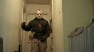 getlinkyoutube.com-Horror costume collection: Friday the 13th Jason Voorhees part 6, Jason Lives costume (WIP) Test #4