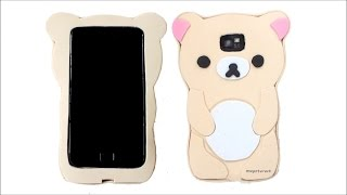 getlinkyoutube.com-DIY How to make a Korilakkuma Rilakkuma phone case - Kawaii
