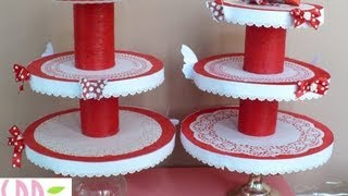 getlinkyoutube.com-Tutorial: Porta Cupcakes! - DIY Cupcakes stand!