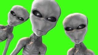 getlinkyoutube.com-Green Screen Alien Gray Walks Abduction UFO - Footage PixelBoom