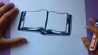 getlinkyoutube.com-Como dibujar un libro paso a paso | How to draw a book