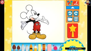 getlinkyoutube.com-Mickey Mouse Color And Play Clup House Paint 3D Color Disney Junior Animated Coloring Book