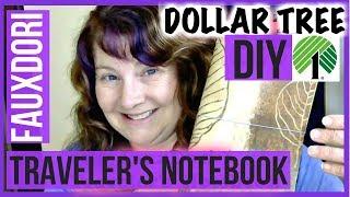getlinkyoutube.com-Dollar Tree DIY Fauxdori Travelers Notebook Planner