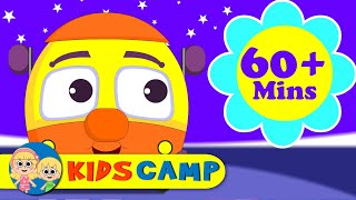 getlinkyoutube.com-Wheels On The Bus Go Round And Round | Nursery Rhymes | 60 Minutes Compilation from Kidscamp