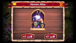 Castle Clash / Royal Clash - 22k Gems Roll für Helden & Talente