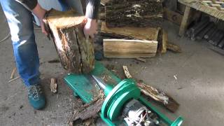 getlinkyoutube.com-Дровокол с двигателем от стиральной машины (Wood splitter with the engine from the washing machine)