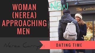Woman Approaching Men!
