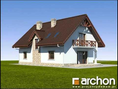 Dom w majeranku 2. Projekty domów ARCHON+, www.archon.pl