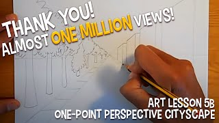 getlinkyoutube.com-LESSON 5B: One-Point Perspective Cityscape