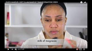 QUICK MAKEUP/ SOFT GLAM/MAKEUP TRANSFORMATION VIDEO