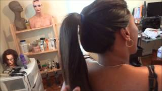 "getlinkyoutube.com-Full Sew in with Invisible Hairline No Glue 1/2"" Leaveout *Stacy Dash*2012 (Official)"