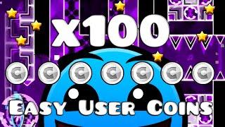 getlinkyoutube.com-MAS DE 100 EASY USER COINS ✓ (PARTE 2) - Geometry Dash 2.0
