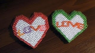 getlinkyoutube.com-3D origami valentine heart with text LOVE tutorial instruction