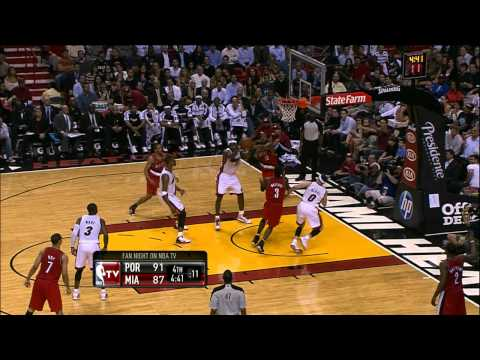 Mario Chalmers Sets Up LeBron James