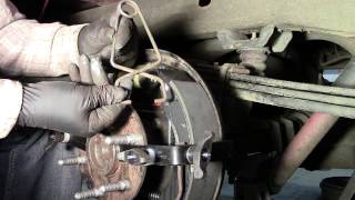 getlinkyoutube.com-Emergency brake cable install