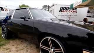 """Blacked Out Oldsmobile Cutlass on 24"""" Irocs"""