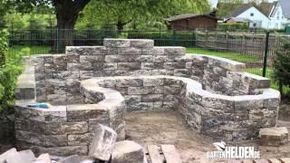 download video gartenmauer selber bauen die betonsteinmauer. Black Bedroom Furniture Sets. Home Design Ideas