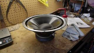 getlinkyoutube.com-Speaker repair - replacing the foam surround