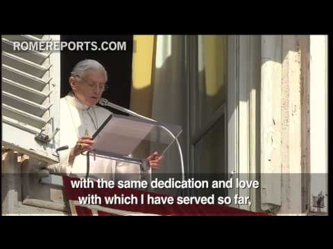 Pope's last Angelus  I will not abandon the Church  I will serve in a different way