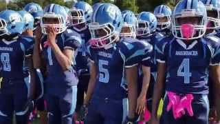 getlinkyoutube.com-Pop Warner Football Jr midgets Florida City Razorbacks  Richmond Giants  Qwik highlights