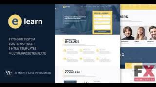 Preview e-Learn - Onepage Bootstrap Education HTML TFx