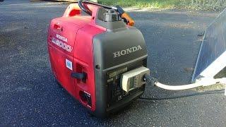 getlinkyoutube.com-Honda EU2000I Generator load test with Overload