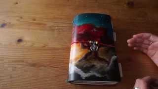 getlinkyoutube.com-My new (amazing) travelers notebook flip through