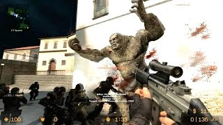 getlinkyoutube.com-Counter Strike Source Zombie Riot online gameplay Italy with boss fight