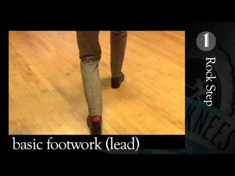 Beginner Lindy Hop - basic footwork for leaders