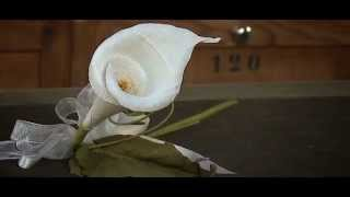 getlinkyoutube.com-Fiori di carta crespa - Crepe paper flowers: Calla by Cartotecnica Rossi